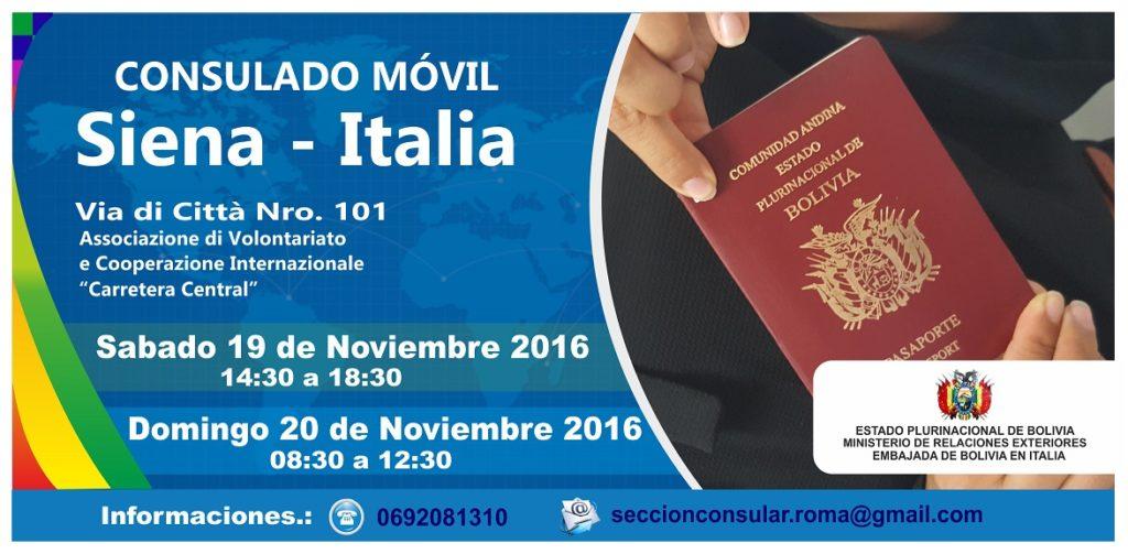 Consulado Movil de la Bolivia