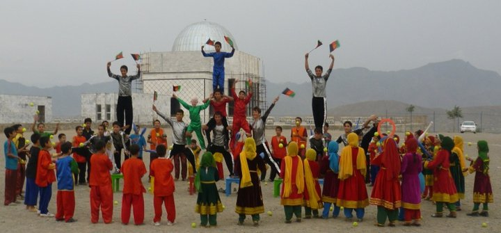 mobile mini circus for children afghanistan