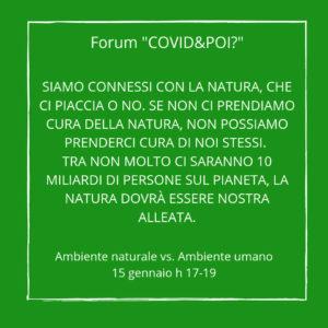 ambiente naturale ambiente umano 2 - covid e poi - carretera central