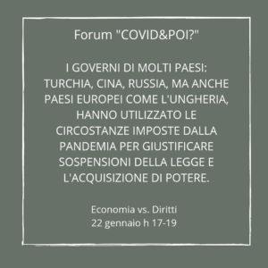 economia vs diritti 5 - covid e poi - carretera central